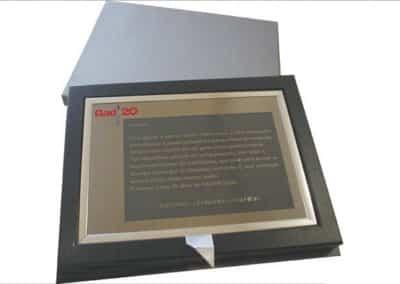 Gad Design (caixa para placa de honra) [PT055]