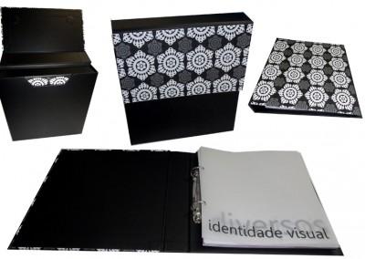 Fichario com pasta envelope personalizada [PE009]