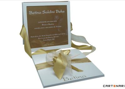 Convite com placa de acetato [CV018]