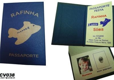 Convite em forma de passaporte [CV038]