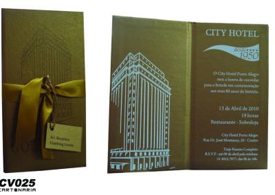 Convite para comemoração de hotel [CV025]