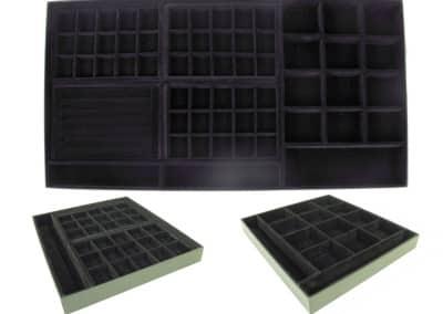 Caixa com divisórias de veludo para colocar dentro da gaveta [GA008]