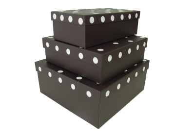Caixas com bolinhas em adesivo de recorte [CA121]