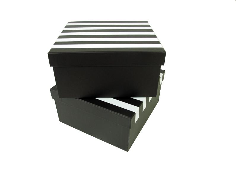 Caixas com listras em adesivo de recorte [CA120]