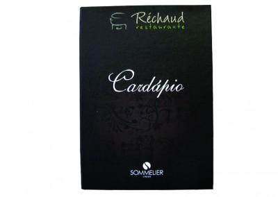 Réchaud Restaurante (Cardápio Sommelier) [CD384]