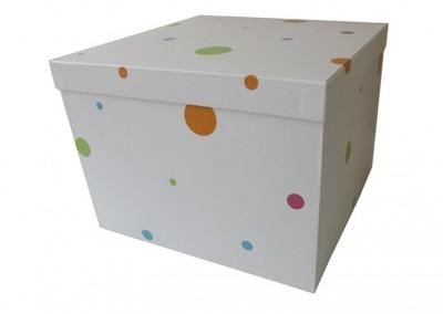 Caixa grande revestida com papel de parede [CA212]
