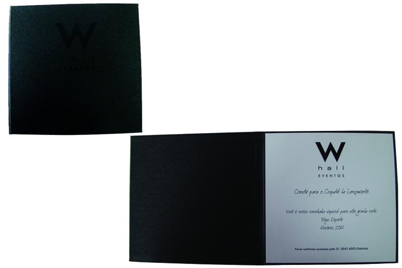 W Hall eventos (convite de lançamento) [CV041]