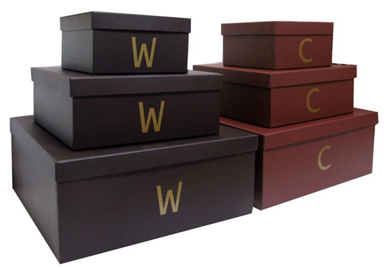 Caixas para Closet com inicial do proprietário [CA221]