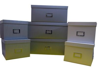 Caixas para organização de escritório com porta etiqueta [CA220]