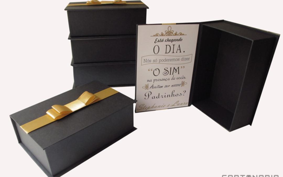 Caixa-convite de padrinhos e madrinhas [PA264]