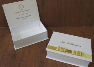 Caixa-presente para padrinho e madrinha de casamento [PA298]